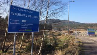 West Link road construction in Inverness