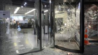 Hurriyet offices damaged by protesters (8 Sept)