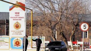 Ermənistanın Gümri şəhərində yerləşən 102-ci Rusiya hərbi bazasının hərbçiləri