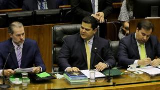 Dias Toffoli com Davi Alcolumbre e Rodrigo Maia