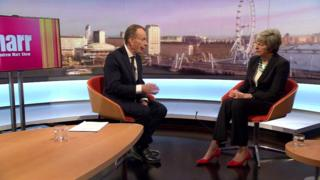 Theresa May speaking to Andrew Marr