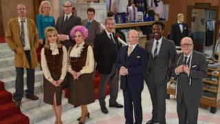 The cast of the new version of Are You Being Served?
