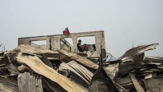 Casa quemada en chile