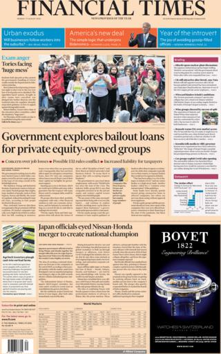Financial Times front page 17 August 2020