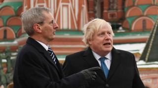 Борис Джонсон в ходе визита в Москву