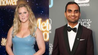 Amy Schumer and Aziz Ansari
