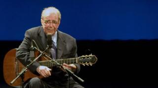 Brazilian musician Joao Gilberto, 77, performs in 2008