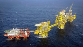 The Total Culzean platform is pictured on the North Sea, about 45 miles (70 kilometres) east of the Aberdeen