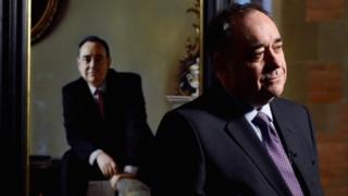 Alex Salmond and portrait