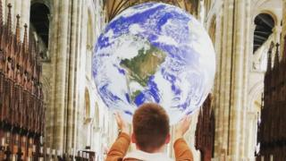 Peterborough Cathedral Earth exhibition