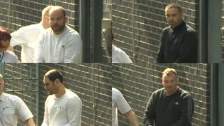 Gavin Jones, Darren Jones, Terence Whall and Martin Roberts (clockwise from l to r) have all appeared in court