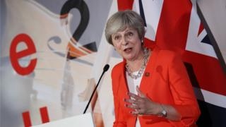 UK Prime Minister Theresa May speaks to the media at the end of the EU leaders' summit in Austria, 20 September 2018
