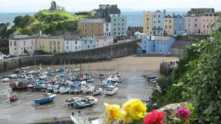 Tenby Harbour, Pembrokeshire - photo by Susan Powell
