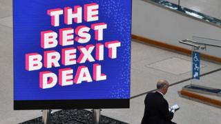Brexit sign at Tory party conference