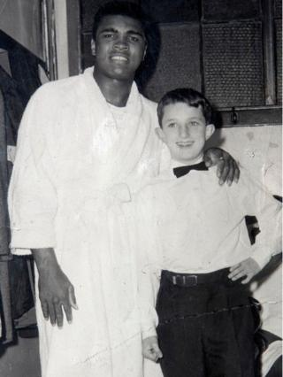 Muhammad Ali and Tommy Gilmour in 1965