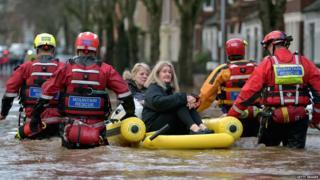 Flood rescue in Cumbria