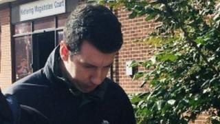 PC Declan Gabriel, pictured right, at Kettering Magistrates' Court for a previous hearing