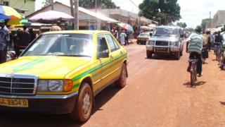 A street scene in Serrekunda, The Gambia - archive shot