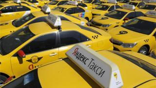Taksi vozila Jandeks Taksija