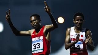 Azərbaycan atleti Hayle İbrahimov 2013-cü ildə keçirilən Üçüncü İslam Həmrəylik Oyunlarında 5 min metrədə birinci olub