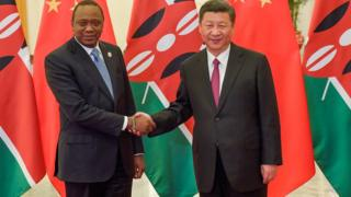 Rais Uhuru Kenyatta na Rais wa China Xi Jinping