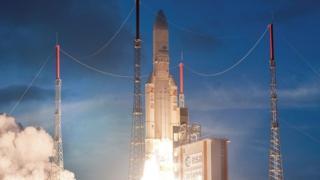 Arianespace စခန်းကနေ လွှတ်တင်ခဲ့တဲ့ ဂြိုဟ်တုတစ်စင်း