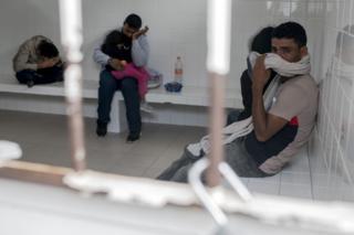 Mexikóban letartóztatott migránsok