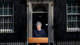 Theresa May announcing her plans for an election