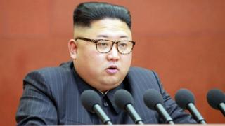 The stolen documents reportedly include a plan to kill North Korean leader Kim Jong-un, pictured on 7 October, 2017