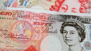Two fifty pound notes