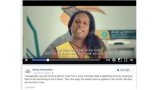 A still photo from the video featuring the transgender workers