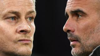Manchester United manager Ole Gunnar Solskjaer (left) and Manchester City boss Pep Guardiola