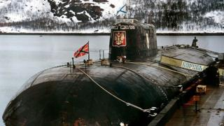 Russia's Kursk submarine, which later sank, in an undated picture