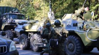 Tanques en Crimea