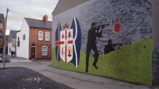 Loyalist wall murals in east and west Belfast