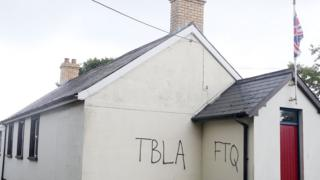 The attack was on an Orange hall at Hillhall Road in Lisburn