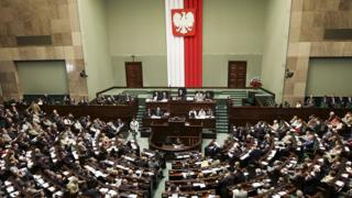 Polish parliament in session - archive photo