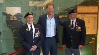 Prince Harry and d-day veterans