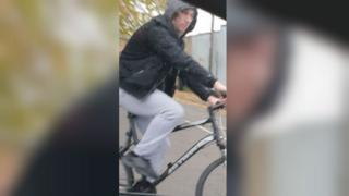 Suspect on a bicycle