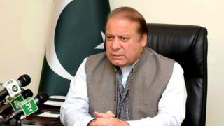 "An handout picture released by the Pakistan Press Information Department (PID) on March 28, 2016, shows Pakistan""s Prime Minister Nawaz Sharif addressing the nation at his office in Islamabad"