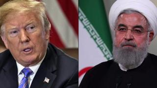 Rais Donald Trump na Hassan Rouhani