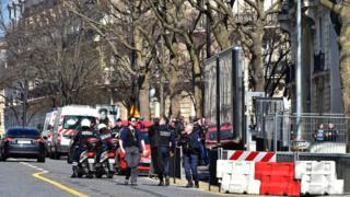 Полиция у здания МВФ