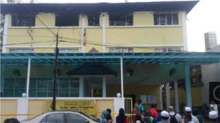 Malezya yangın
