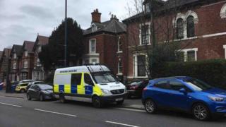 Police van Violet Street Normanton