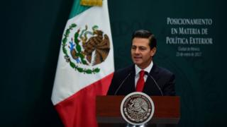 Enrique Peña Nieto speaks in Mexico City, Mexico.  Photograph photographs