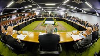 Reunião ministerial de Temer em 2016