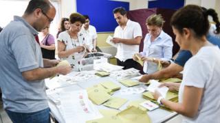 Penghitungan suara di Turki