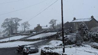 Snowfall in Yorkshire
