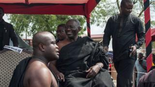 Former Ghana President John Agyekum Kufuor sidon for center