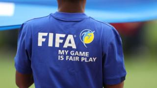 Young man wear cloth of Fifa Fair Play